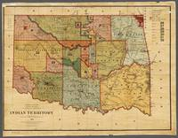 Indian Territory Map 1885 Oklahoma