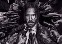John Wick Keanu Reeves Portrait Drawing