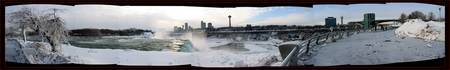 Niagara Falls in winter snow