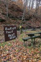 Rustic Handpainted Sign Along the Buckeye Trail