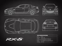 Mazda RX-8 Blueprint in Black