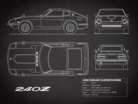 The Datsun 240Z Blueprint in Black