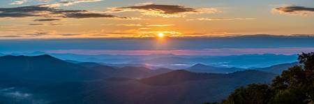 Sunrise at Blue Ridge Mountains Pano