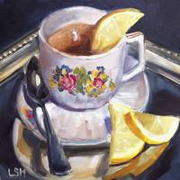 Reflections of Tea with lemon