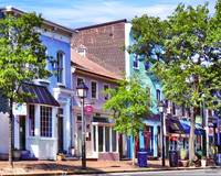 Alexandria VA - Blue Buildings on King Street