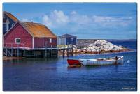 Red Shed at Peggys Cove 02
