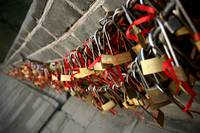 Love Locks along the Great Wall