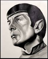 drawing of Spock