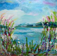 Wildflowers At The Lake, Yvonne Snead