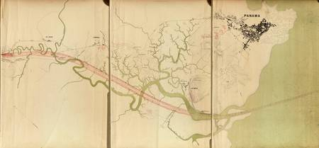 Map of the Proposed Panama Canal (1895) 1