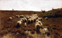 The Return of the Flock, Laren by Anton Mauve (188