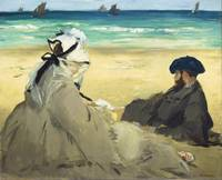 On the Beach by Edouard Manet (1873)