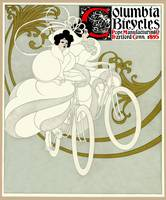 Columbia Bicycles 1895 poster