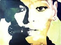 Digital Pop art portrait of celebrity Beyonce