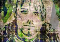 Digital Pop art portrait of Rock idol Kurt Cobain