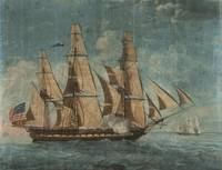The earliest known depiction of USS Constitution.
