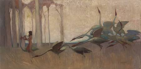 The Spirit of the Plains by Sydney Long (1914)