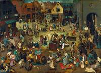 The Fight Between Carnival and Lent by Pieter Brue
