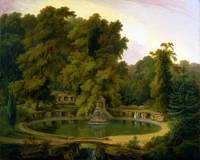 Temple, Fountain and Cave in Sezincote Park by Tho