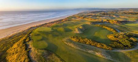 Panoramic View of Hole 16 at Bandon Dunes