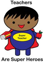 Super Hero Teacher African American Male Black