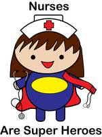 Nurse Super Hero Kawaii Cute Funny