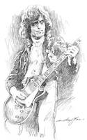 Jimmy Page's Les Paul sketch