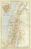 Palestine Map Published Circa 1881 With Jerusalem