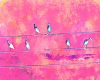 Abstract Watercolor - Birds Of A Feather II