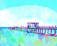 Abstract Watercolor - Texas Fishing Pier