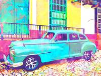 Abstract Watercolor - Trinidad Cuba Classic