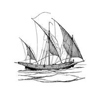 Sailing ship drawing graphics