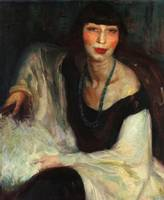 Adriano Sousa Lopes~Portrait of Madame Souza Lopes