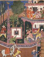 Akbar~Folio from the Hamzanama (Volume 11) Hamid a
