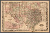Texas County Map 1881
