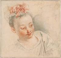 Antoine Watteau~Head of a Girl in Cap