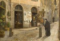 Arturo Ferrari~In the Old Street (Vicolo San Berna