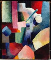 August Macke~Colored Composition of Forms, 1914