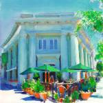 """Sidewalk Cafe on Coronado Island By Riccoboni"" by BeaconArtWorksCorporation"