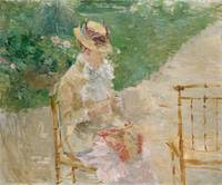 Berthe Morisot~Young Woman Knitting