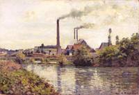 Camille Pissarro~The Factory at Pontoise