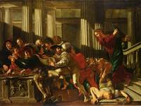 Cecco del Caravaggio~Cleansing of the Temple