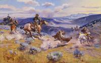 Charles Marion Russell~Loops and Swift Horses are
