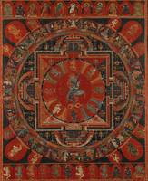 15th century~Nine-deity Mandala of Two-armed Hevaj