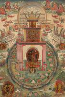 18 – 19th Century~Thangka with representation of V