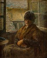 Adolphe-Felix Cals~Mother Boudoux at Her Window