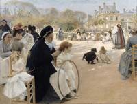 Albert Edelfelt~The Luxembourg Gardens, Paris