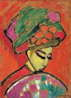 Alexei Jawlensky~Young Girl with a Flowered Hat, 1