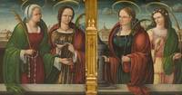 Andres de Melgar~Saints Apollonia, Lucy and Barbar