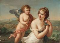Angelica Kauffman~The Temptation of Eros